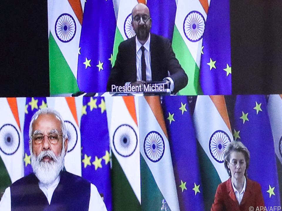 EU-Spitzen sprachen mit Indiens Premier Modi per Video