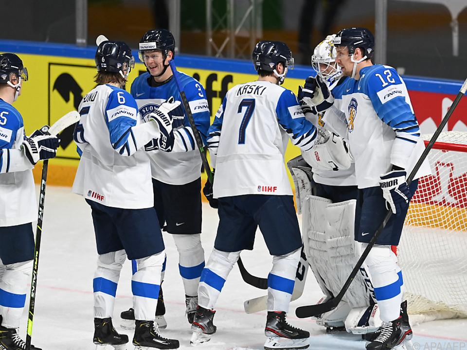Finnland feierte in Riga Einzug ins WM-Viertelfinale