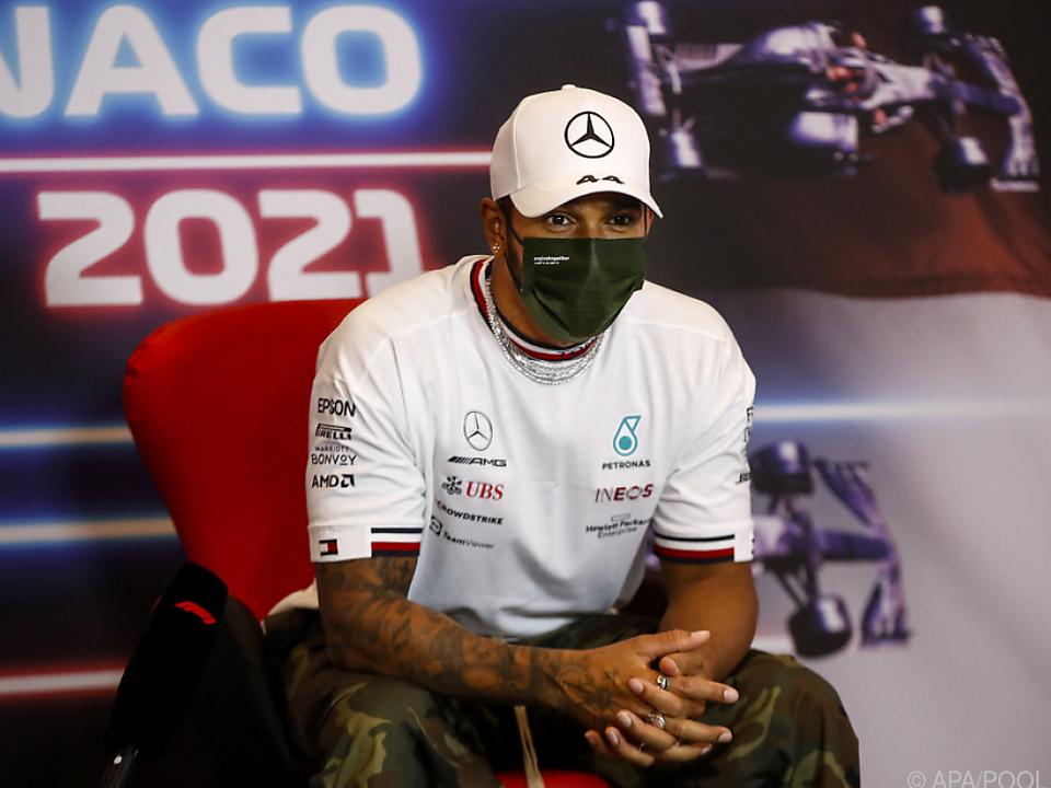 Formel-1-Weltmeister Lewis Hamilton in Monaco