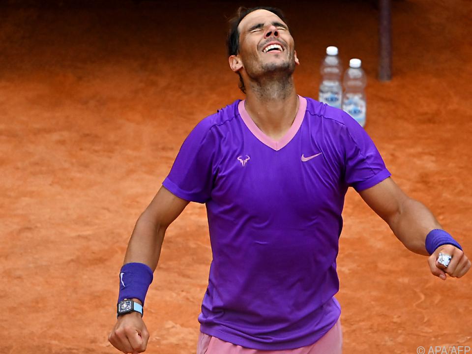 Glücklicher Nadal erreichte Rom-Halbfinale