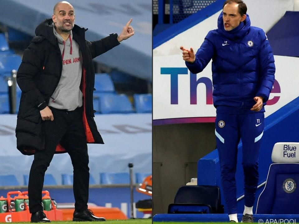 Guardiola (l.) und Tuchel: Es kann nur einen Sieger geben