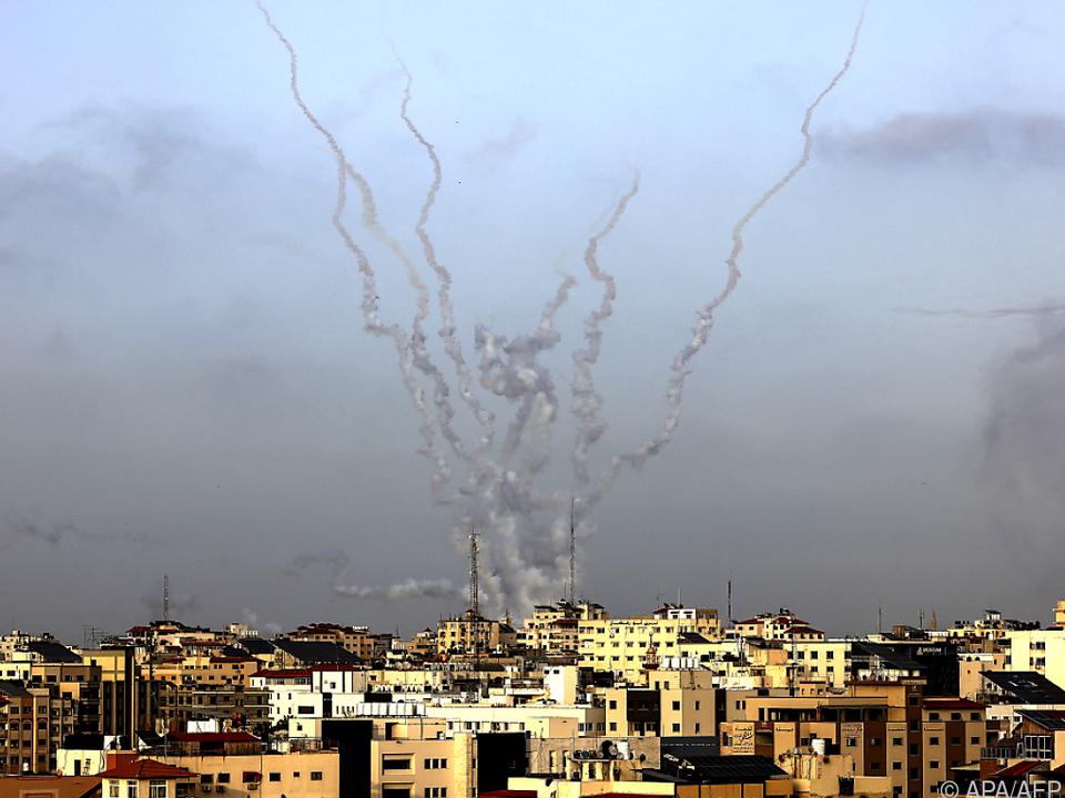 Hamas-Raketen in Richtung Israel abgefeuert