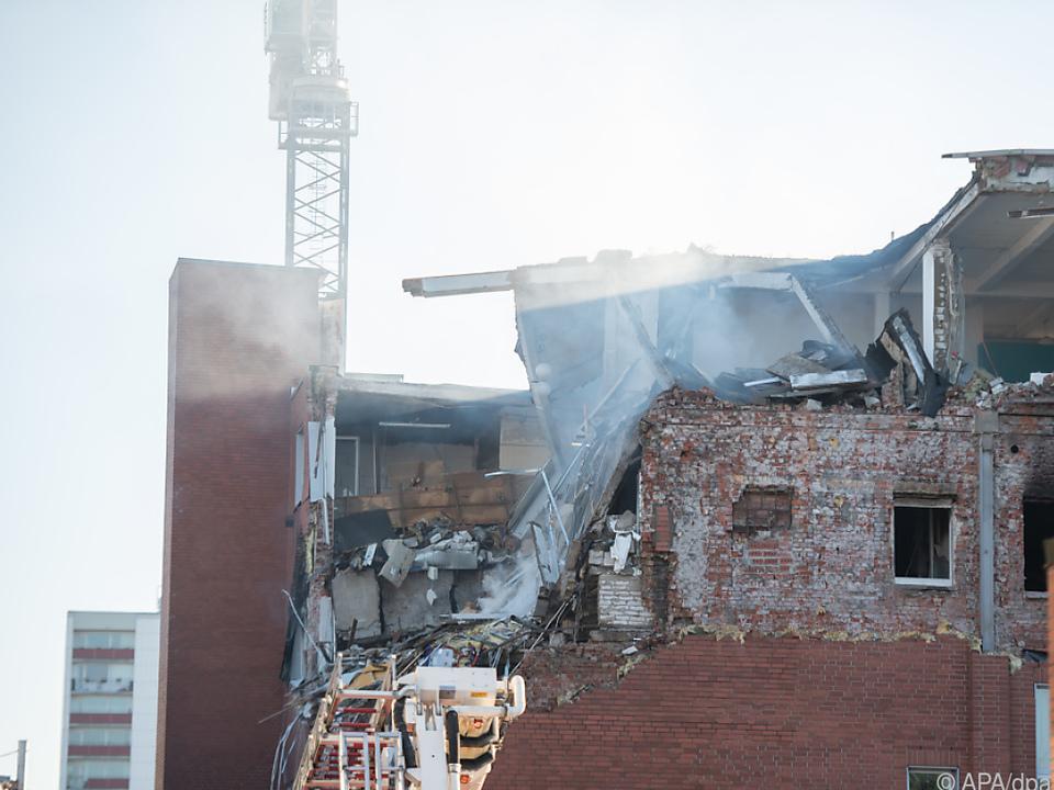 Haus in Hamburg nach Explosion schwer beschädigt