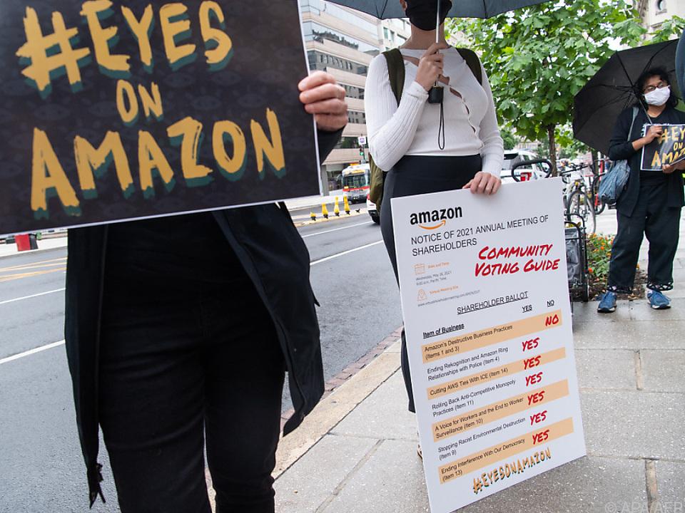 Hier wurde in Washington gegen Amazon-Arbeitsbedingungen protestiert