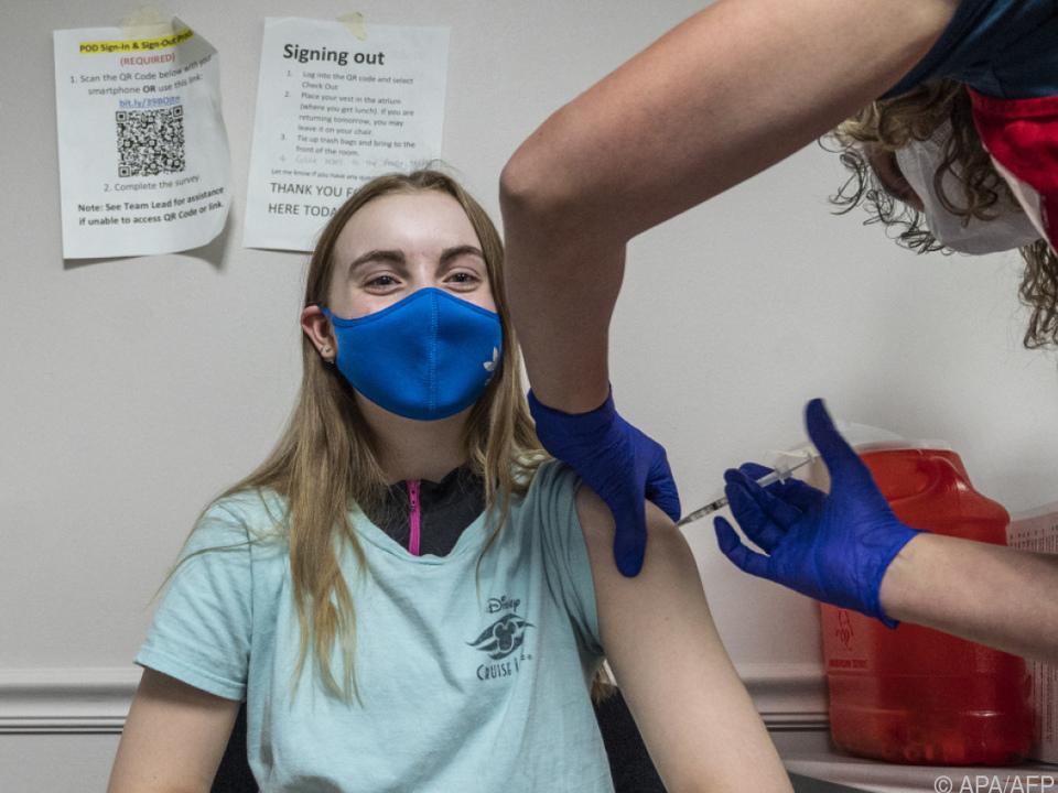 Impfung einer 14-Jährigen im US-Staat Virginia