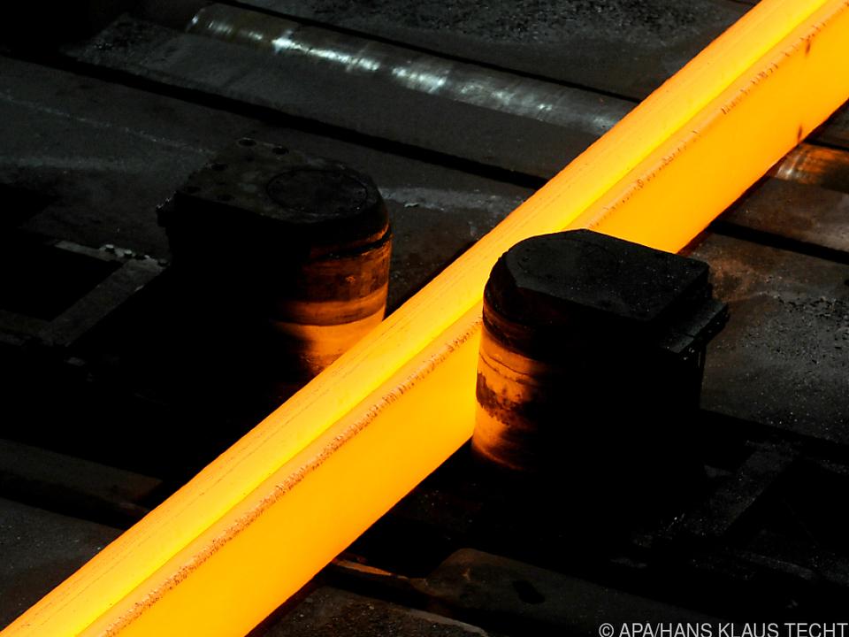 In der Stahlproduktion ist die Stimmung derzeit sehr gut