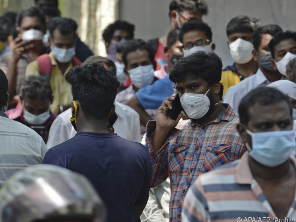 In Indien wütet das Coronavirus derzeit besonders stark (Archivbild)