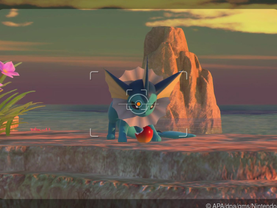 Ein kleiner Apfel sorgt für bessere Stimmung beim Pokémon im Sucher