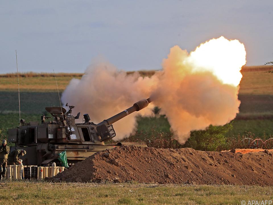 Israels Armee feuerte mit Artillerie (Archivbild)