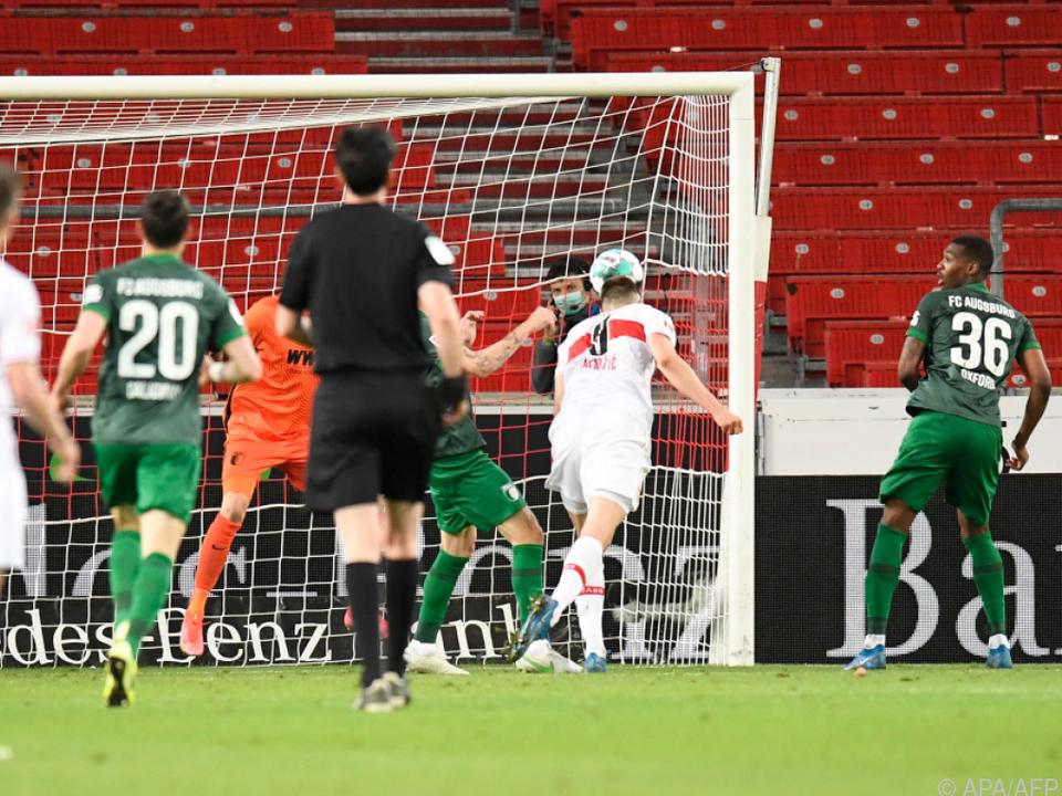 Kalajdzic köpfelt zum Siegtreffer für Stuttgart ein