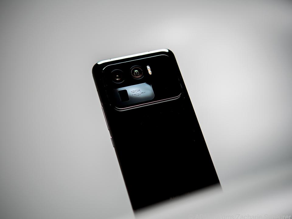 Kameraklotz: Drei Kameras und bis zu 120facher Zoom sind im Mi 11 Ultra verbaut