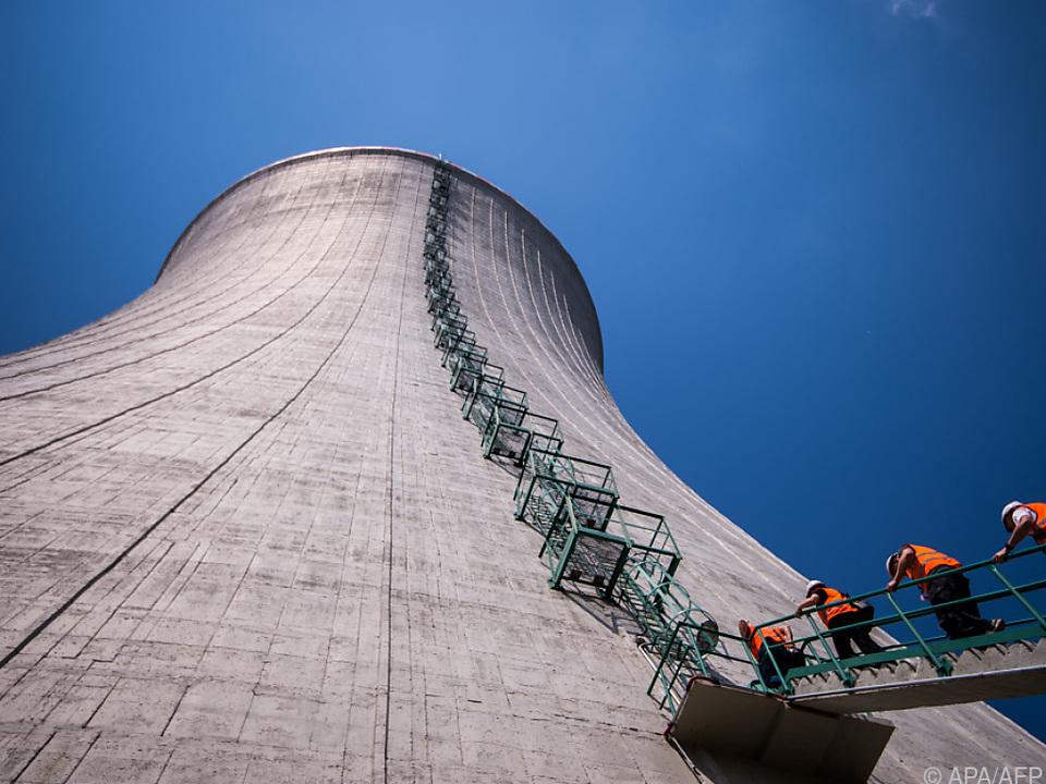 Kühlturm des dritten und vierten Reaktorblocks von Mochovce