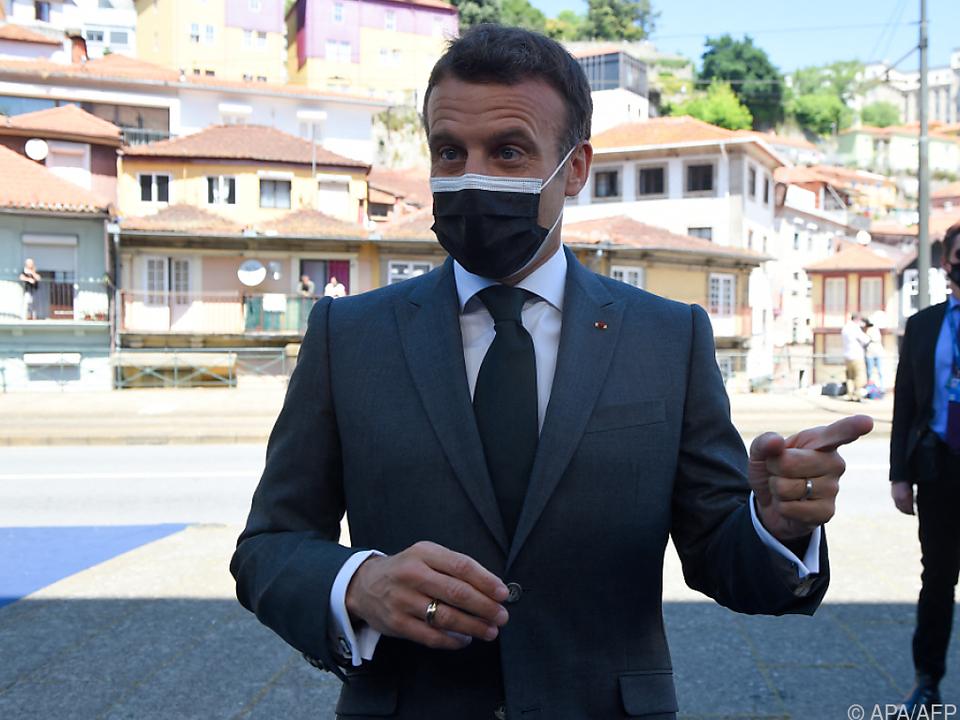 Macron forderte Ende des Exportstopps für Impfstoffe