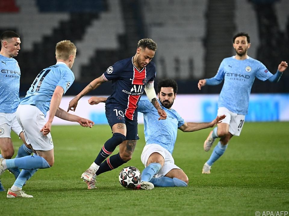 ManCity verteidigt gegen Neymar und Co. ein 2:1 aus dem Hinspiel