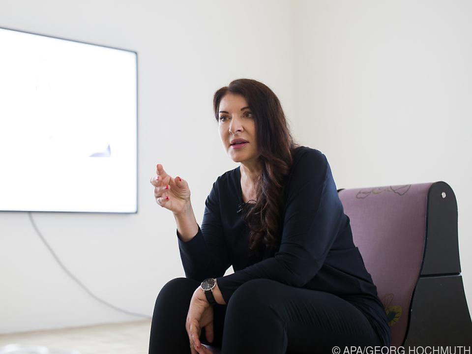 Marina Abramovic im Rahmen eines Interviews in Wien (2018)