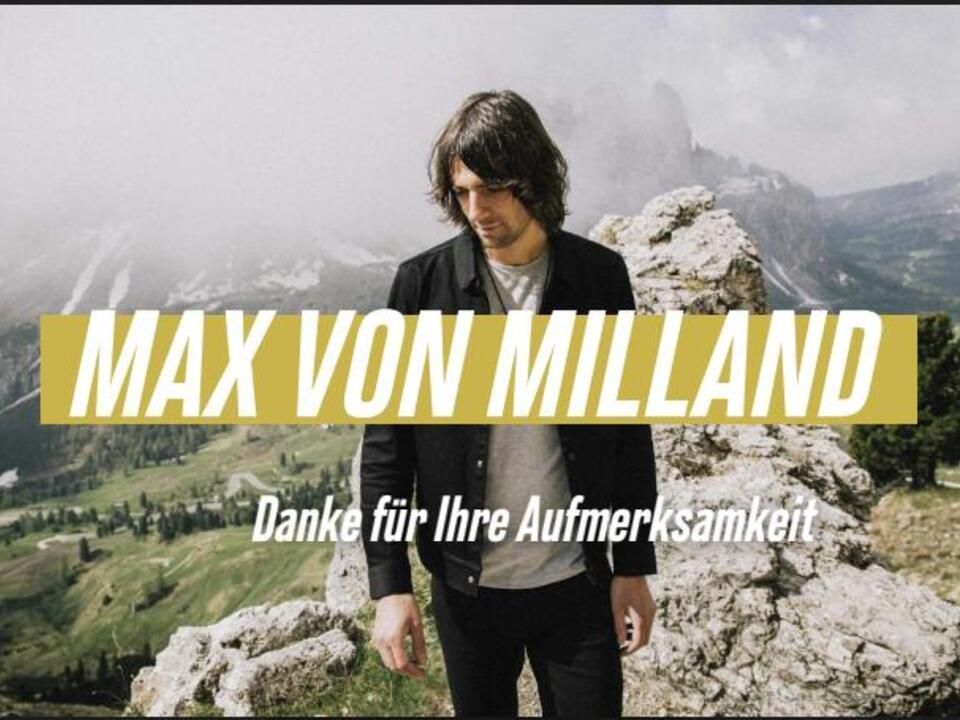 Max von Milland oanzige -press