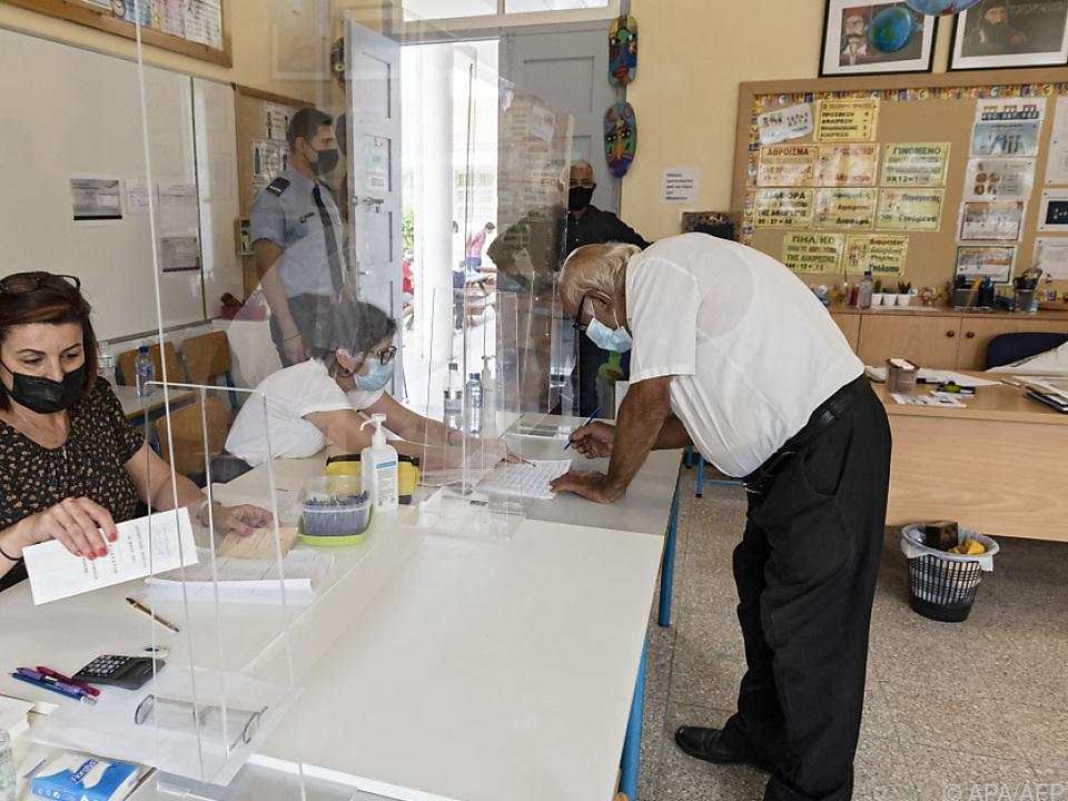 Mehr als 550.000 Zyprioten waren wahlberechtigt