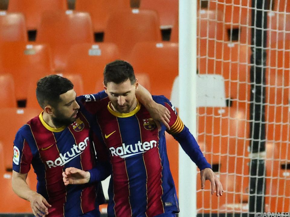 Messi führte Barcelona zu Sieg in Valencia