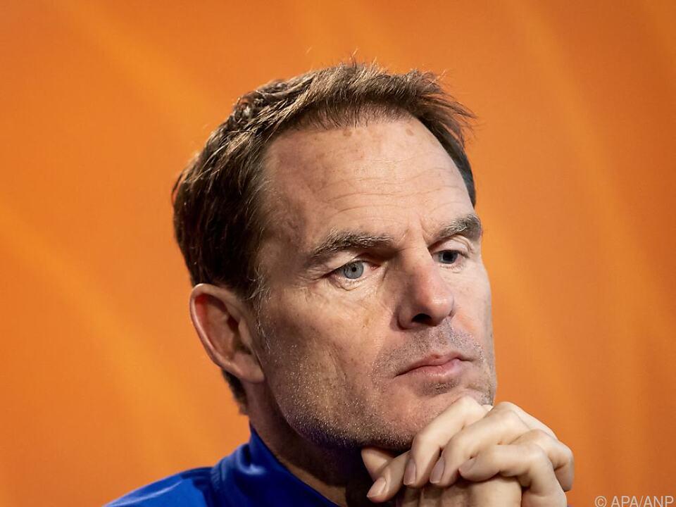 Niederlande-Teamchef Frank de Boer hat Respekt vor ÖFB-Team