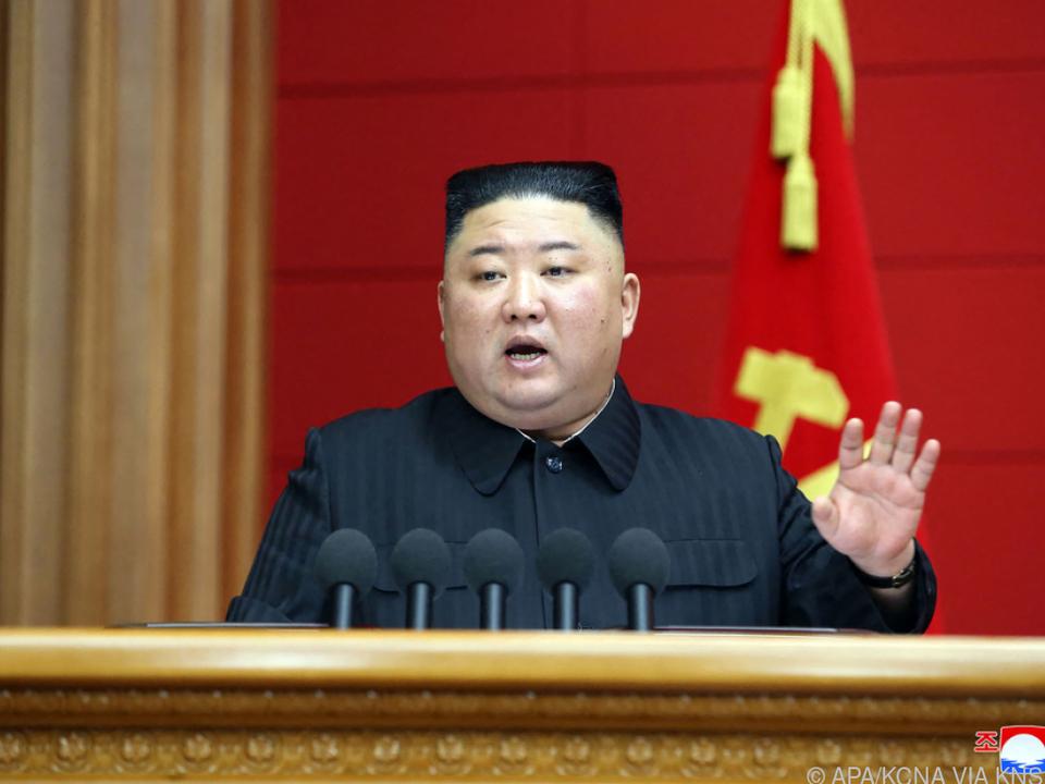 Nordkoreas Diktator Kim warnt die USA (Archivbild)