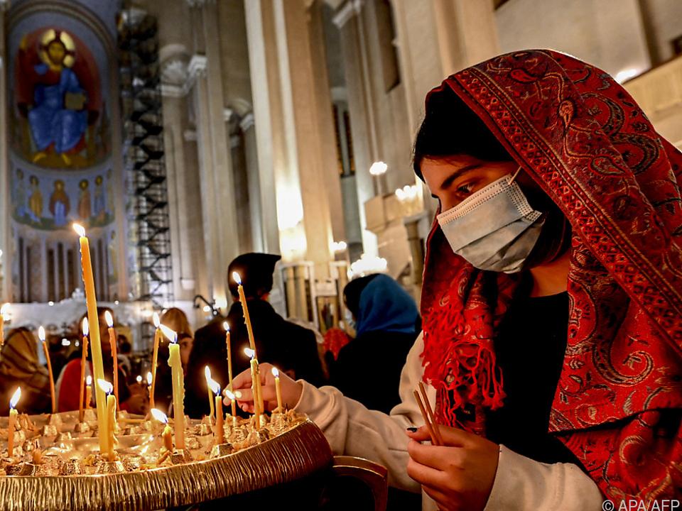 Osterfeiern in georgischer Hauptstadt Tiflis