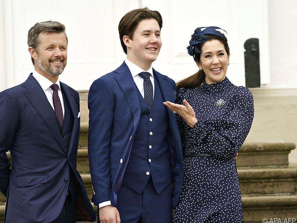 Prinz Christian gemeinsam mit seinen Eltern
