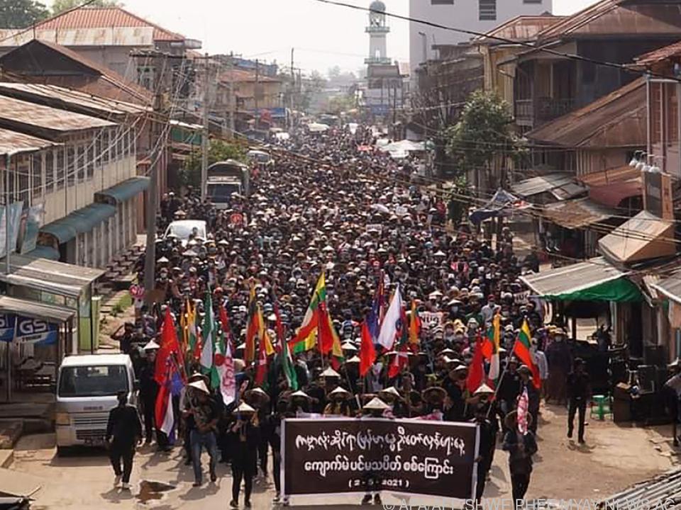 Proteste im Bundesstaat Shan