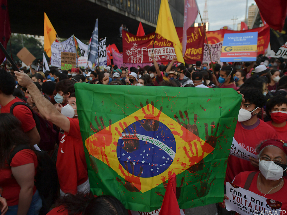 Proteste in Brasilien gegen Präsident Bolsonaro