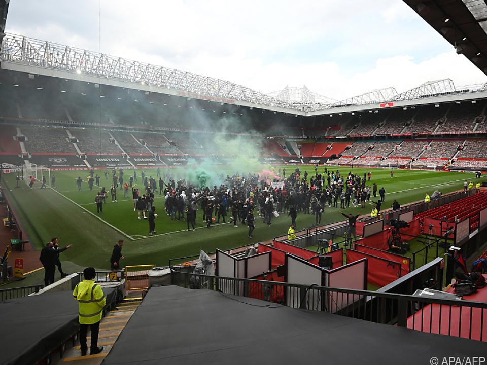 Proteste von Manchester-United-Fans im Old Trafford