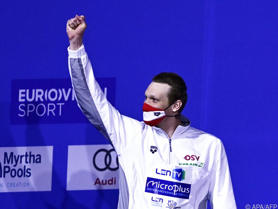 Schwimmer Auböck holte bei EM in Budapest eine von drei OSV-Medaillen