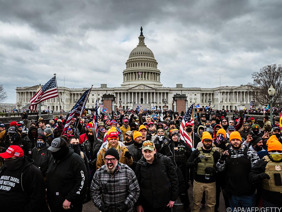 Trump-Anhänger hatten Anfang Jänner den Sitz des US-Kapitol erstürmt
