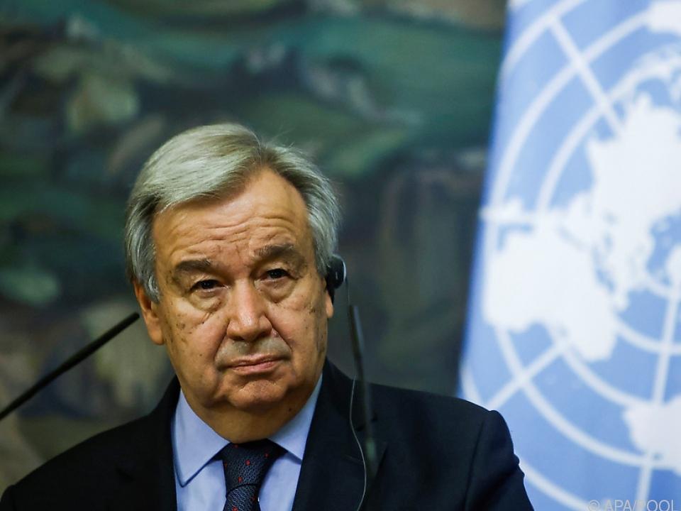 UNO-Generalsekretär Guterres in Sorge