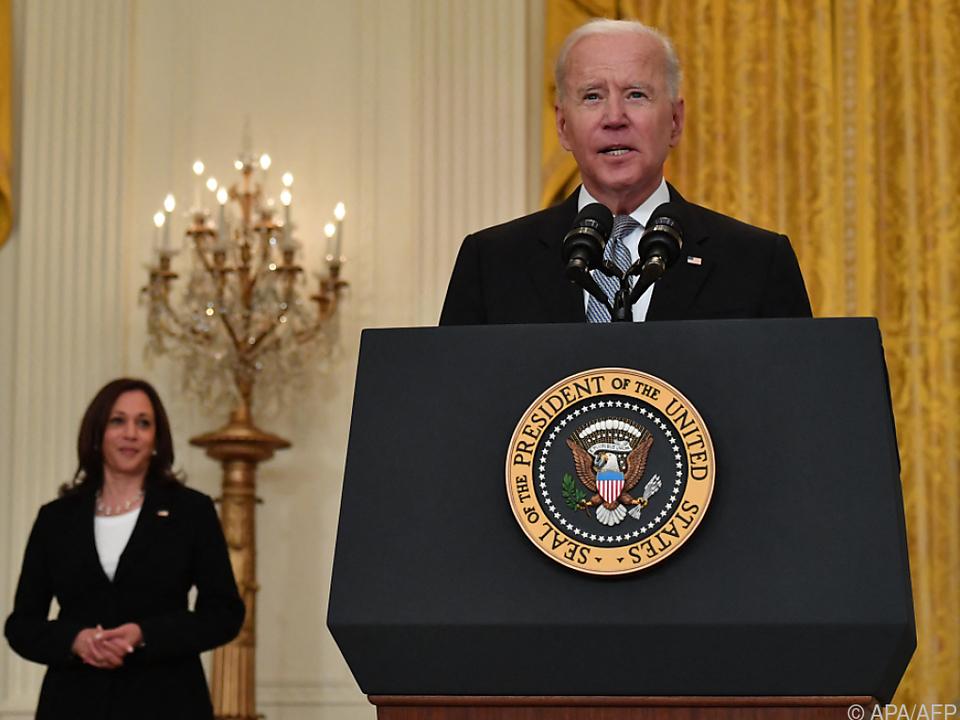 US-Präsident Joe Biden und Vize Kamala Harris