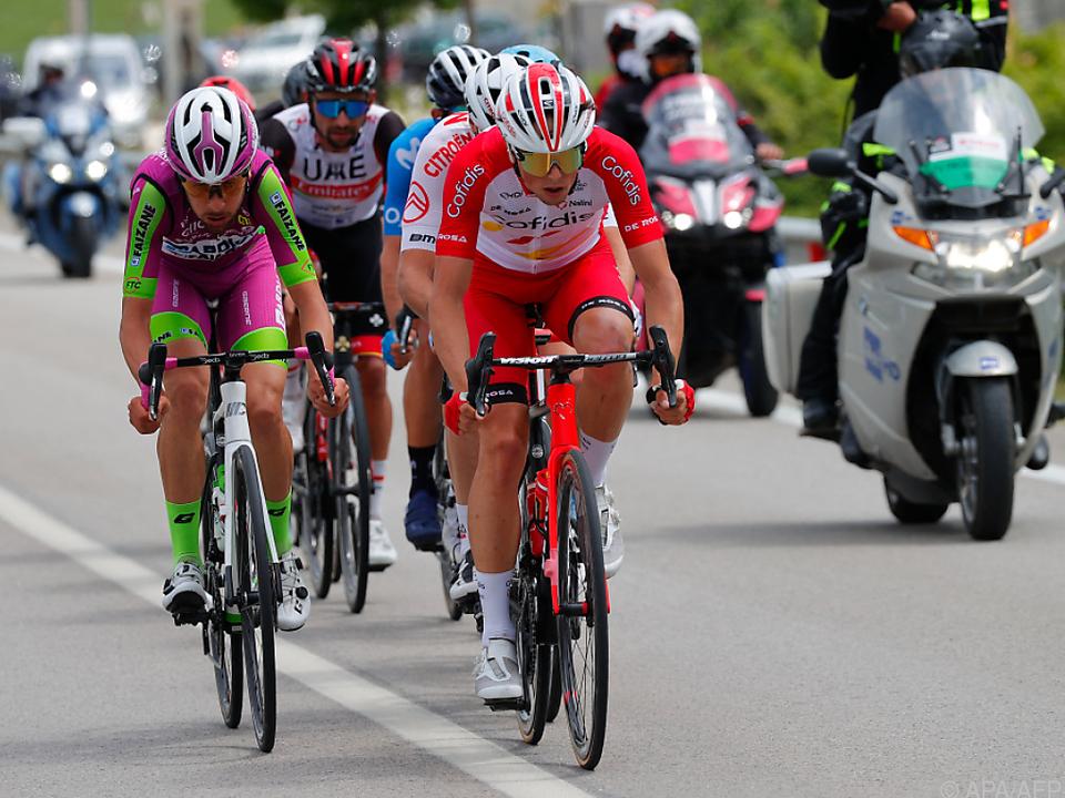 Victor Lafay (r.) gewann die 8. Giro-Etappe