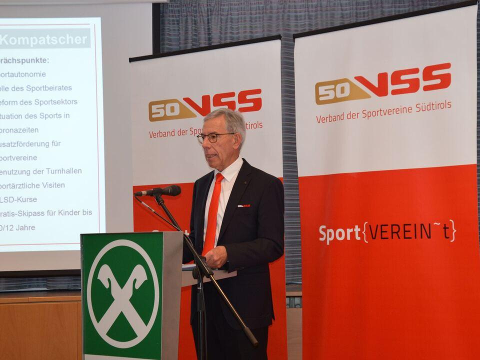 VSS-Migliederversammlung Obmann Günther Andergassen