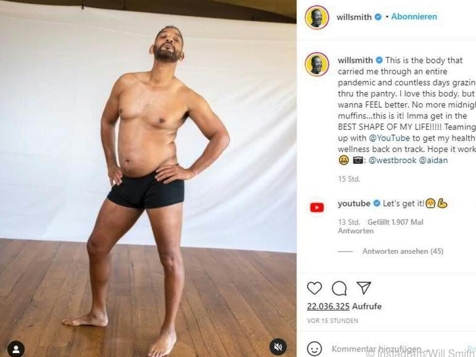 Will Smith präsentiert seinen Körper