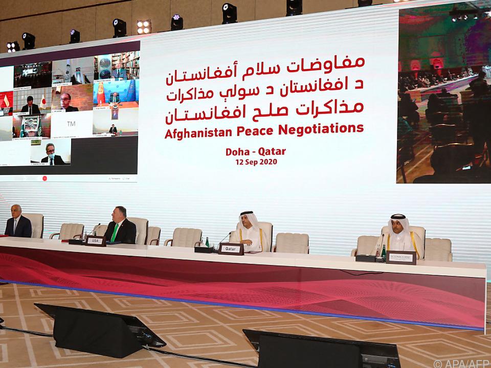 Afghanische Friedensgespräche bei ihrem Start im Vorjahr