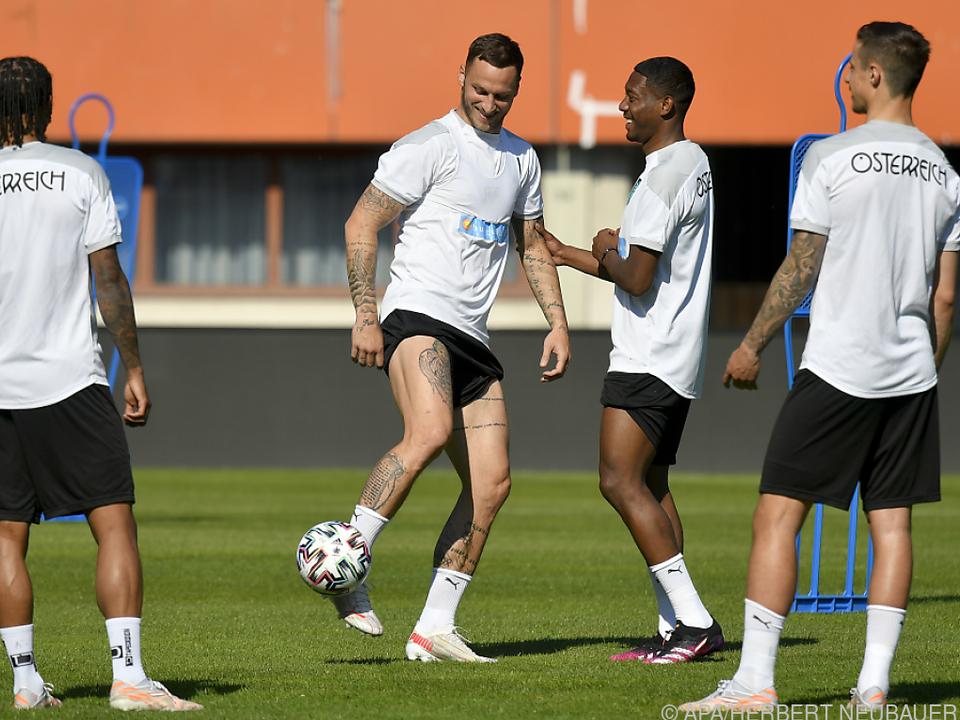 Arnautovic hat mit seinen Kollegen wieder im Mannschaftstraining Spaß