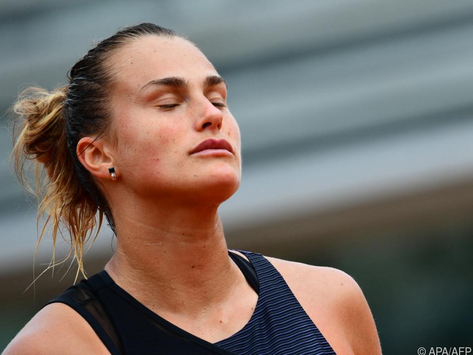 Aryna Sabalenka nach ihrem Out bei den French Open enttäuscht.
