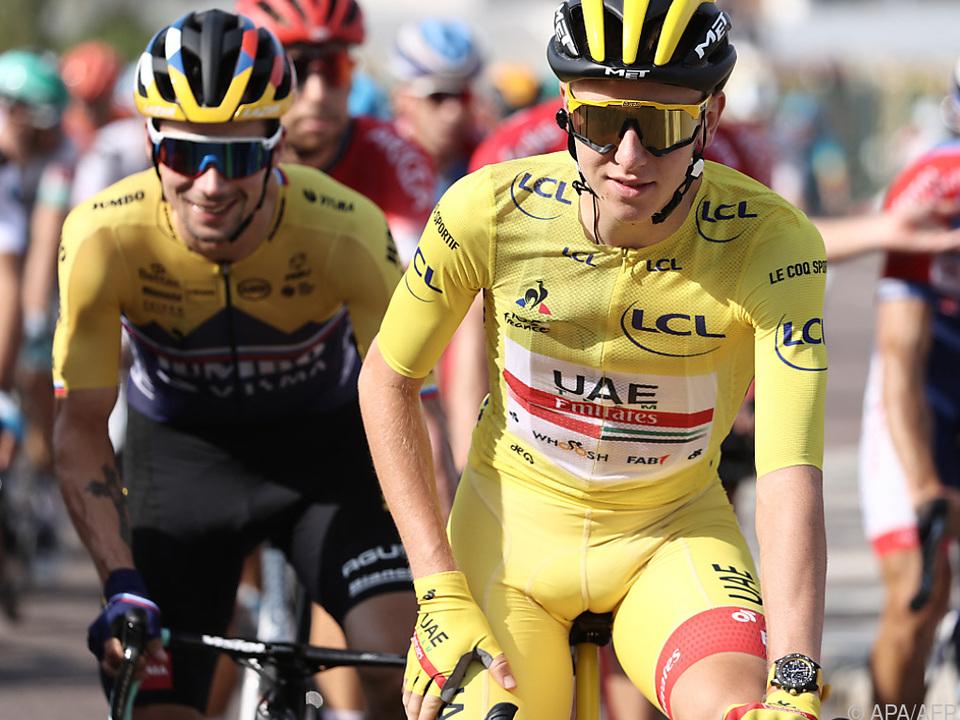 Auch heuer die Tour-Favoriten: Roglic (l) und Vorjahressieger Pogacar