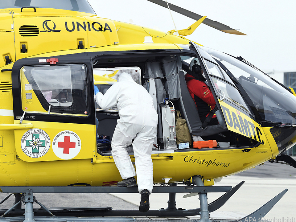 Baby wurde mit dem Hubschrauber ins Spital geflogen