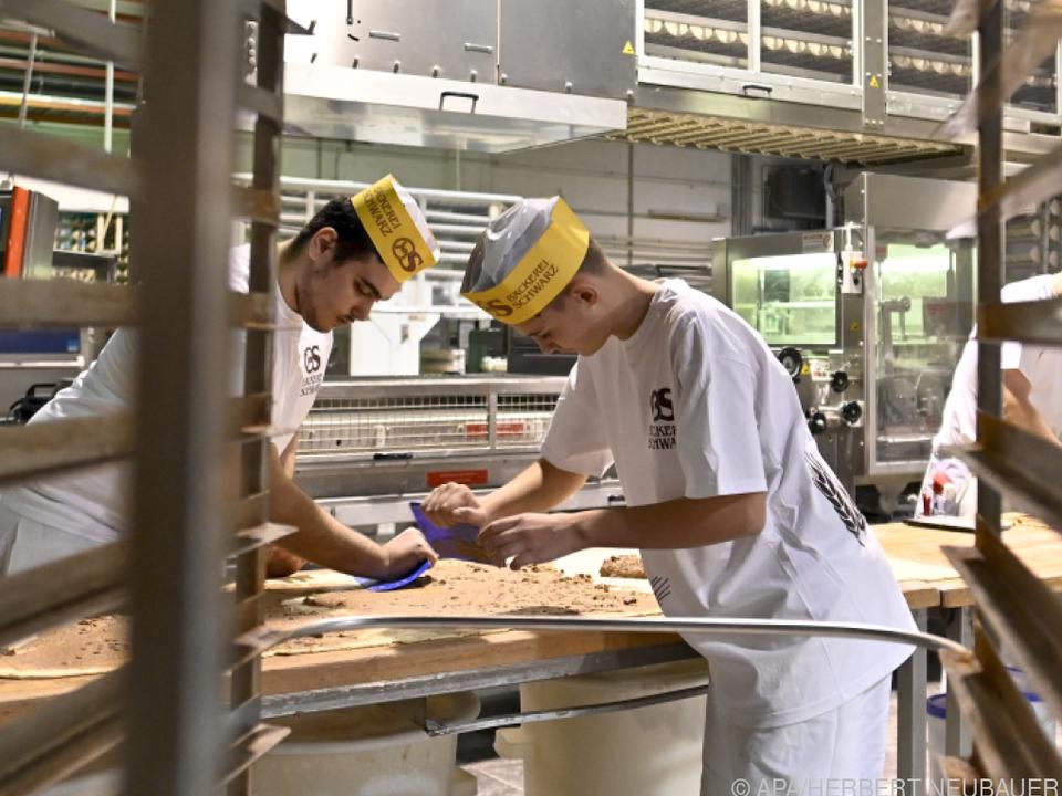 Bäckerlehrlinge in Wien