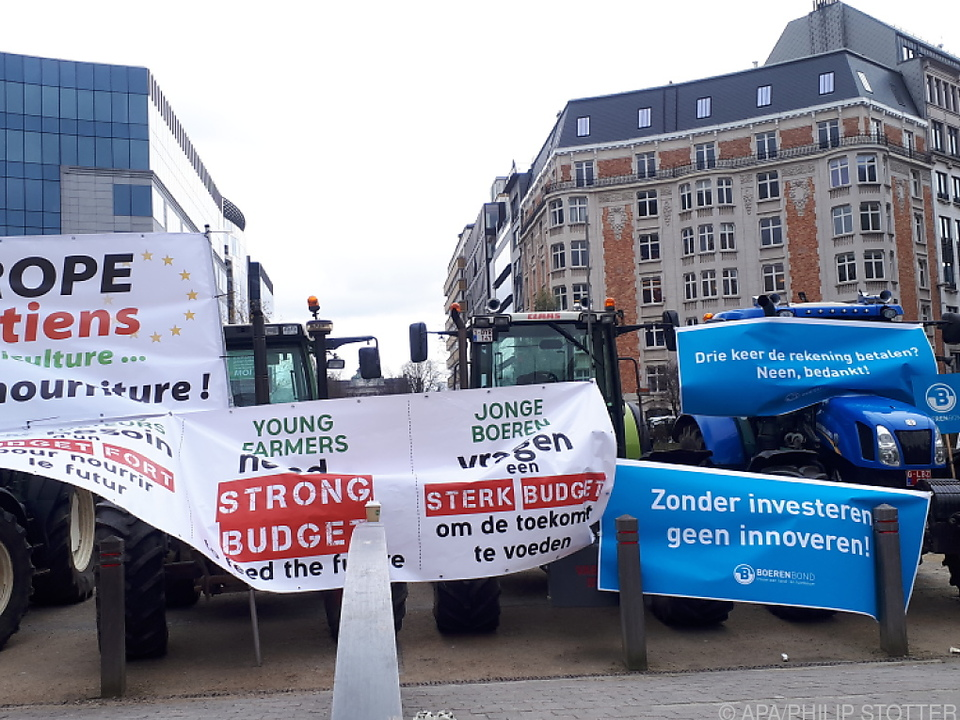 Bauern-Demo für ordentliches EU-Agrarbudget in Brüssel im Vorjahr