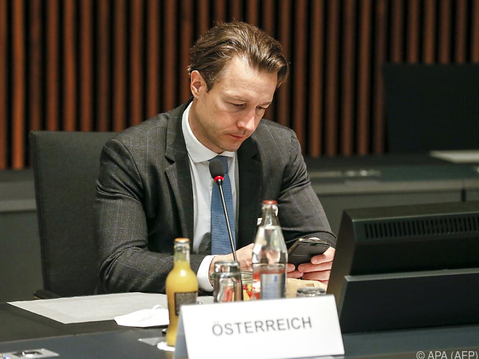 Blümel will Dynamik für weltweite Steuergerechtigkeit nutzen