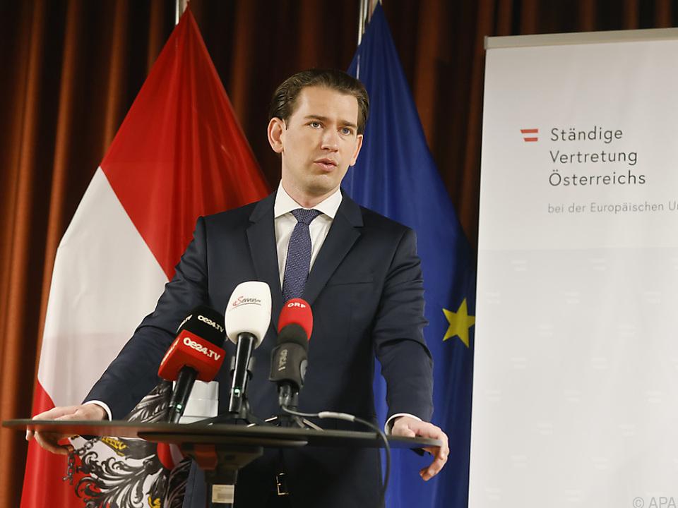 Bundeskanzler Kurz beim EU-Gipfel in Brüssel