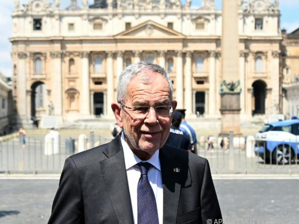 Bundespräsident Van der Bellen im Vatikan