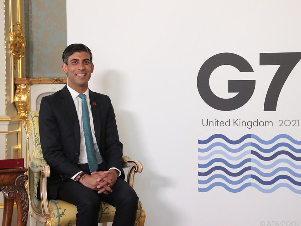 Der britische Finanzminister Rishi Sunak