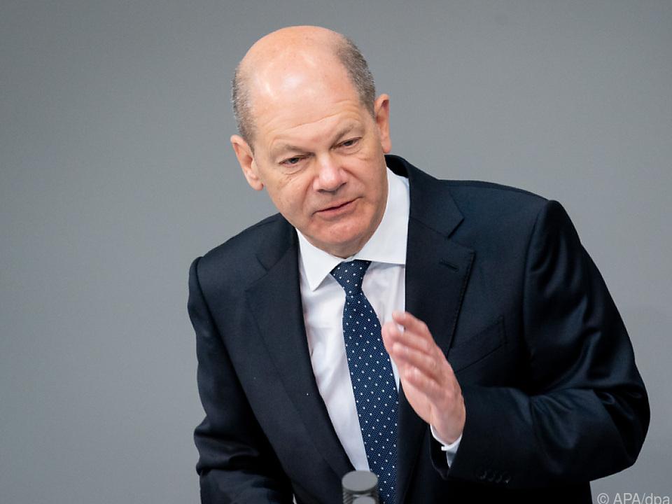 Deutscher Finanzminister Olaf Scholz
