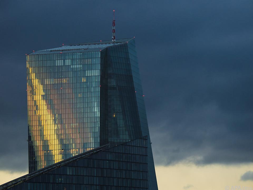 Die EZB in Frankfurt bleibt bei ihrem Kurs
