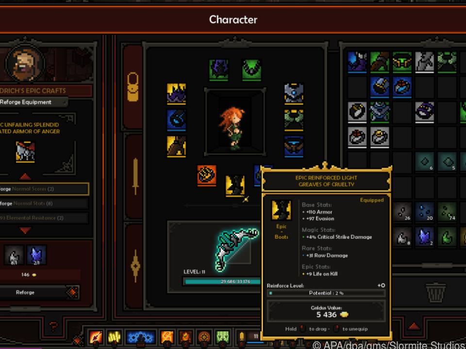 Spieler können ihre Helden hochleveln und mit besonderen Fähigkeiten ausstatten